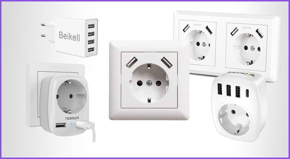 USB-Steckdosen für die Wand