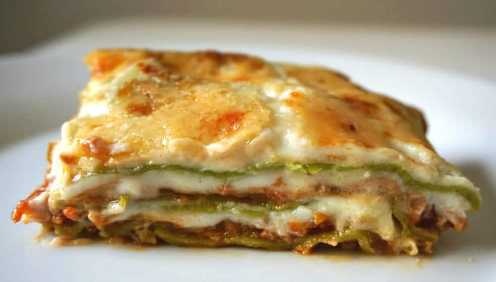 Green Lasagna with Bolognese Sauce