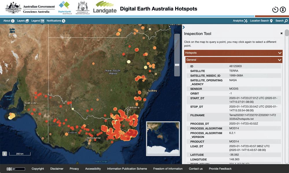 Digital Earth Hotspots Australia