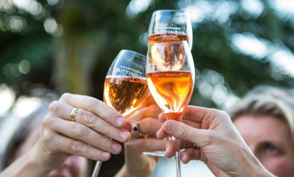 Sparkling rose wine category; Taittinger