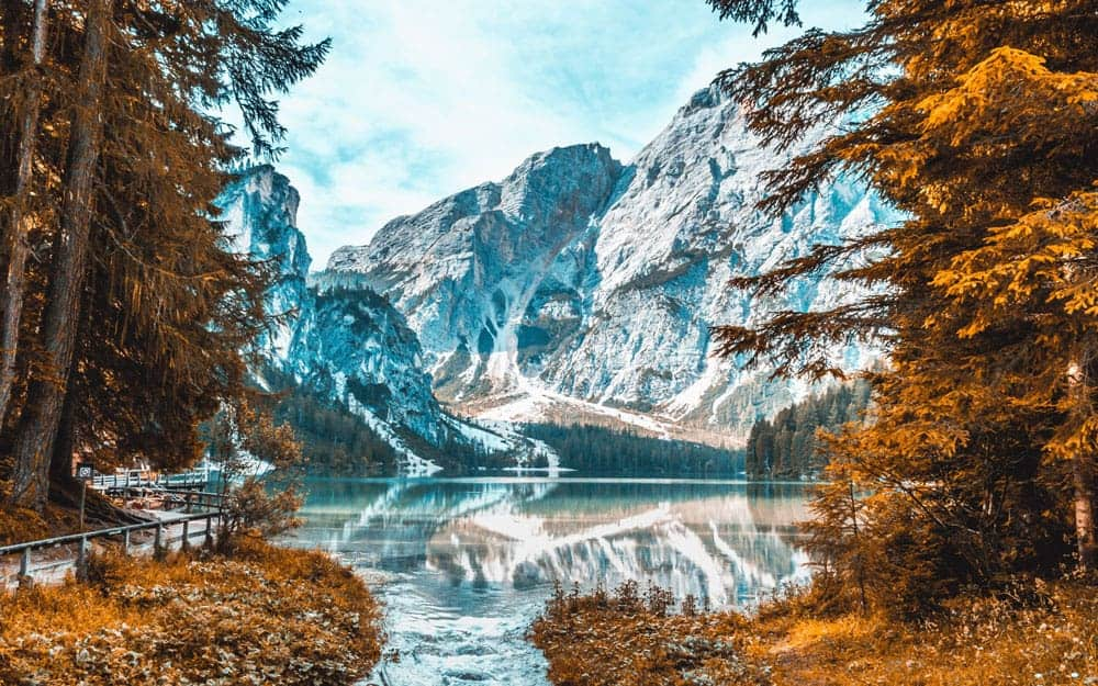 Fall Photography with mountains