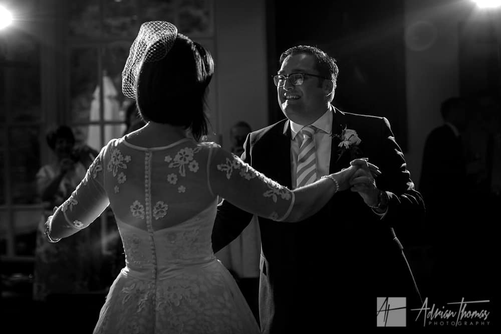 Bride and groom 1st dance at Castell Deudraeth reception