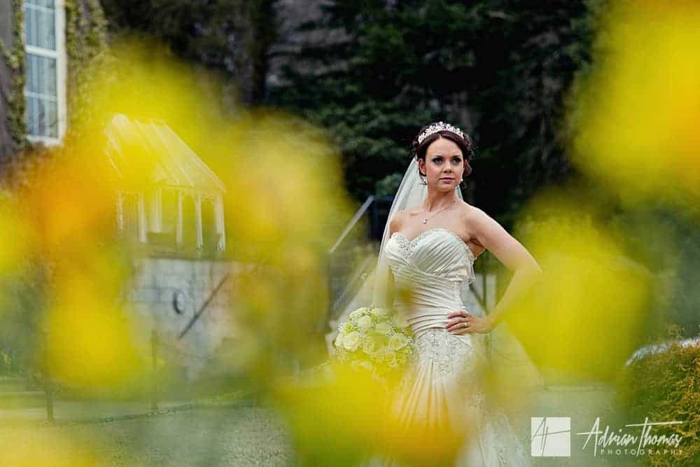 Bride portrait at New House Hotel Wedding Marquee
