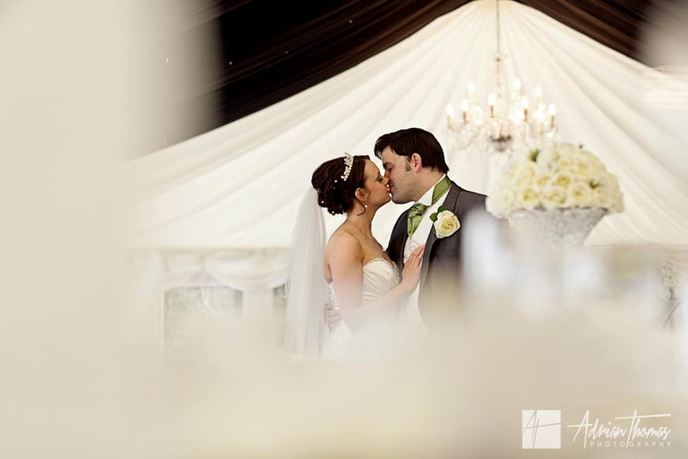 Bride and Groom inside New House Hotel Wedding Marquee