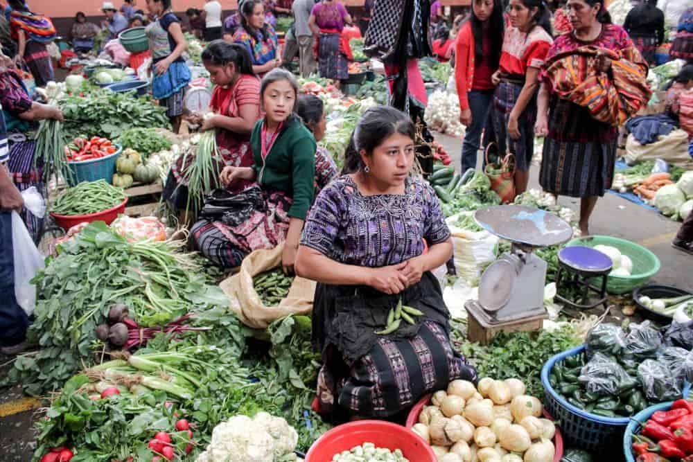 Gemüseverkäuferinnen Chichicastenango