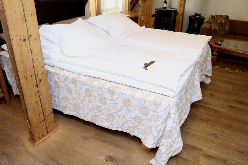 Two double beds in CRU hotel