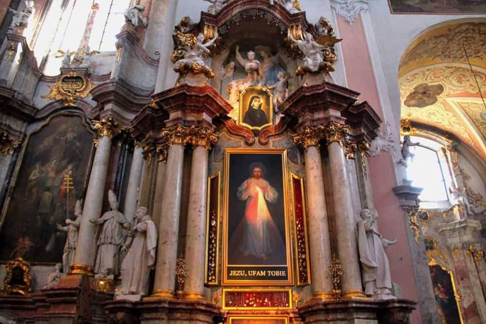 Divine Mercy painting Vilnius