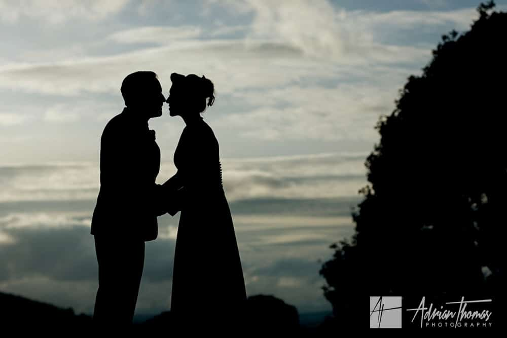 brie and groom silhouette.
