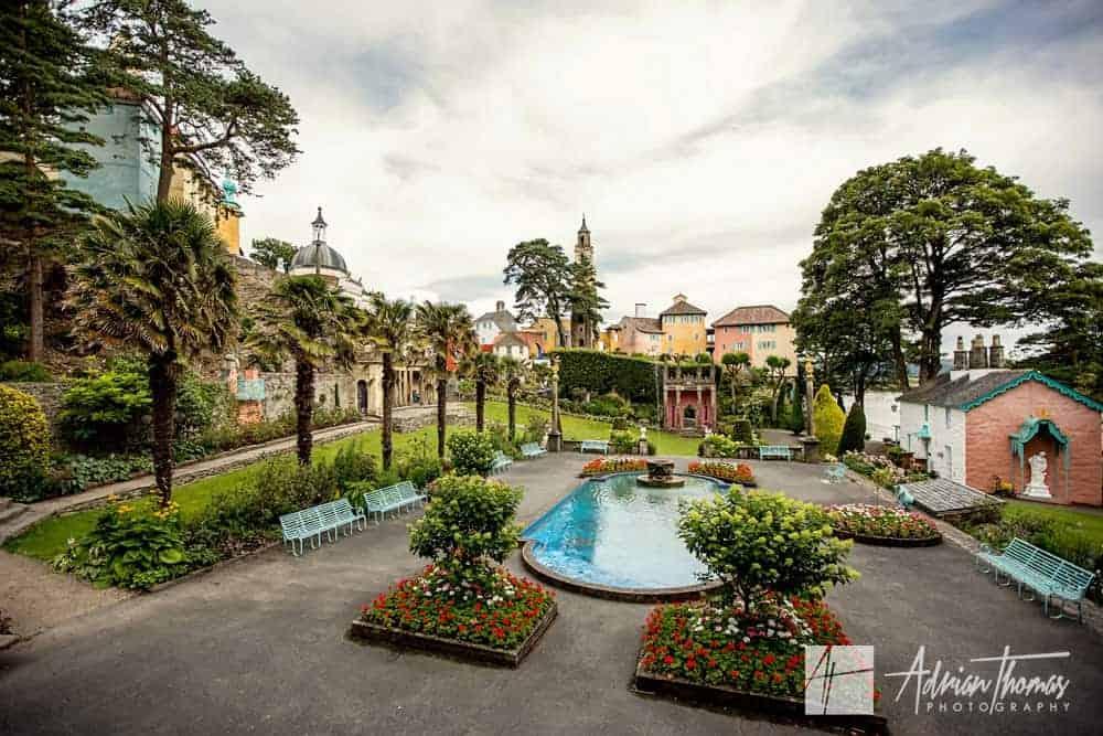 Portmeirion Village Wedding venue and grounds in Gwynedd.