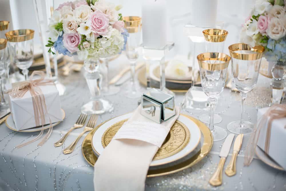 Hochzeitstrends Vintage Hochzeit Metallic Wedding