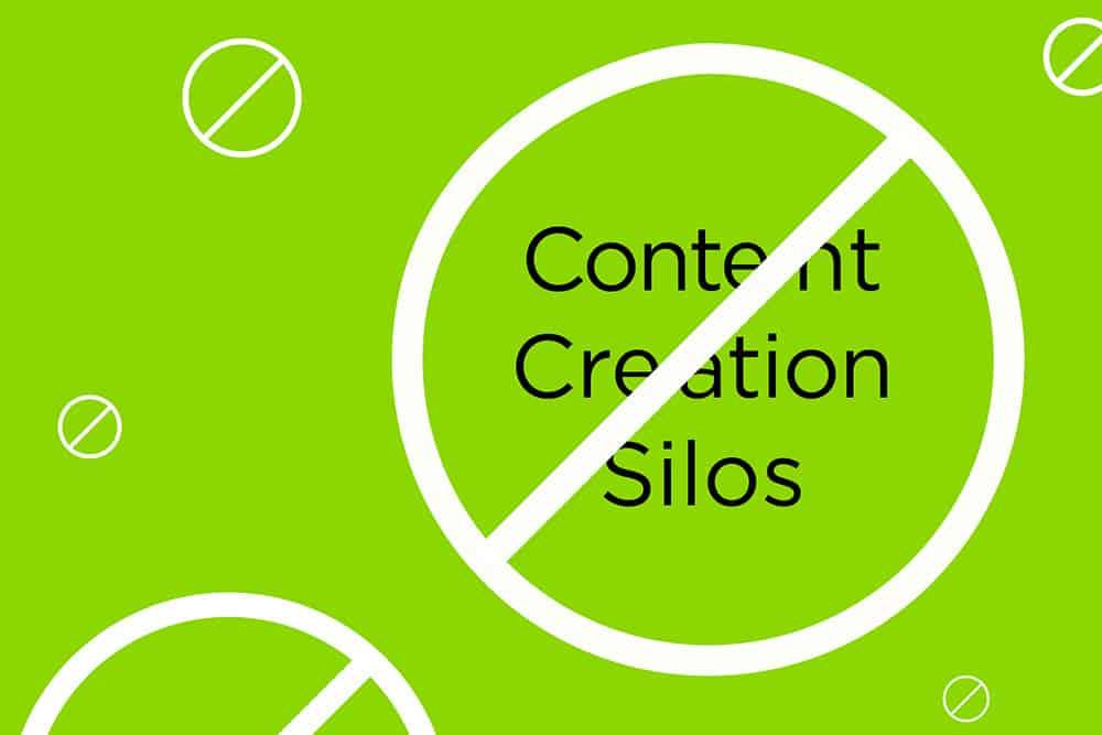 content creation silos graphic