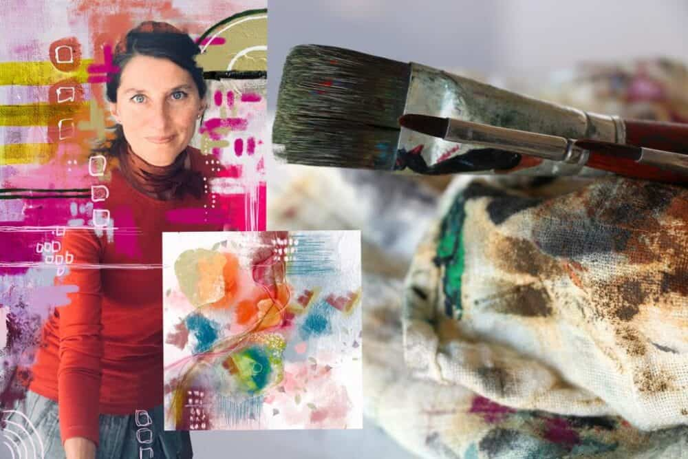 Online Abstract Art Classes by Ana Paz and PaintEvents