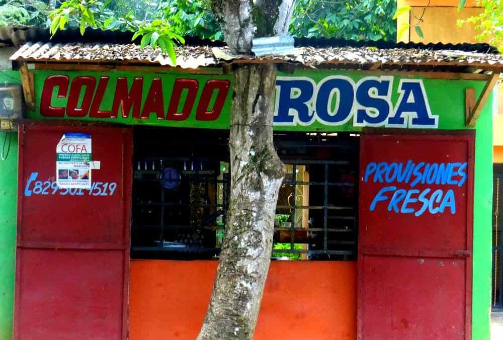 Colorful simple dominican restaurant