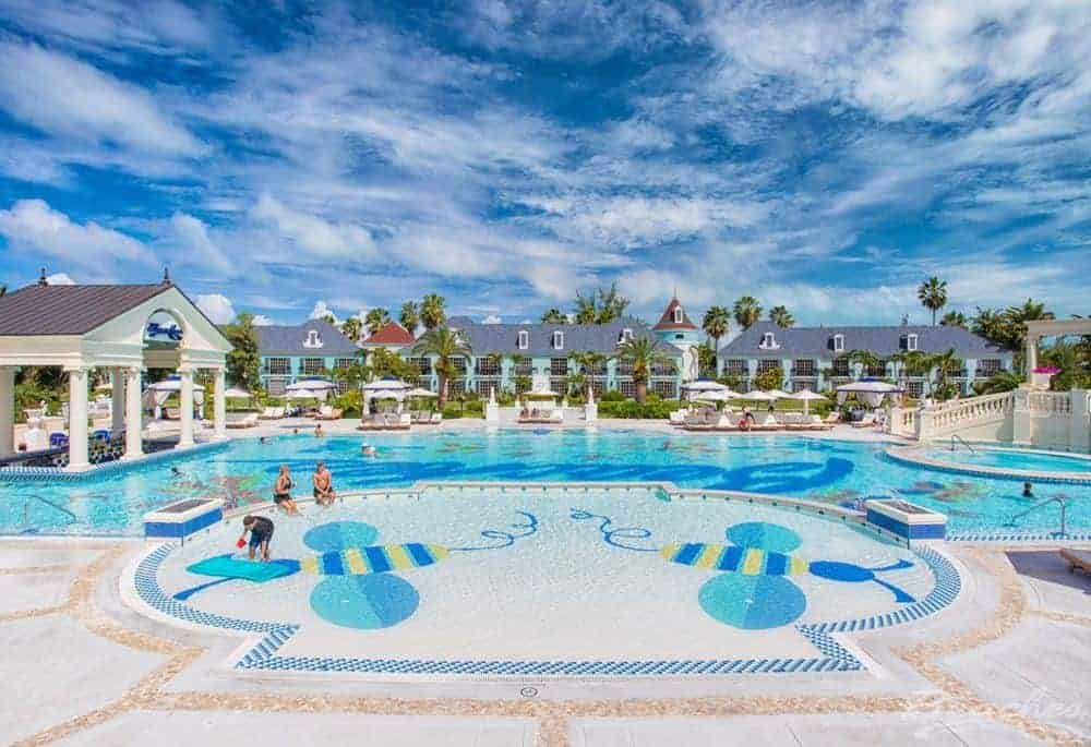 The enormous pool at the beaches tci resort