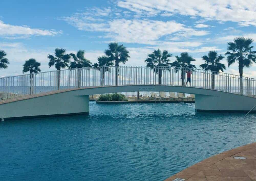 The outdoor pool at turquoise place