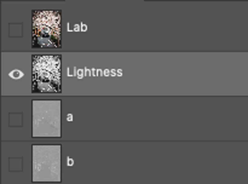 LAB  color mode channels