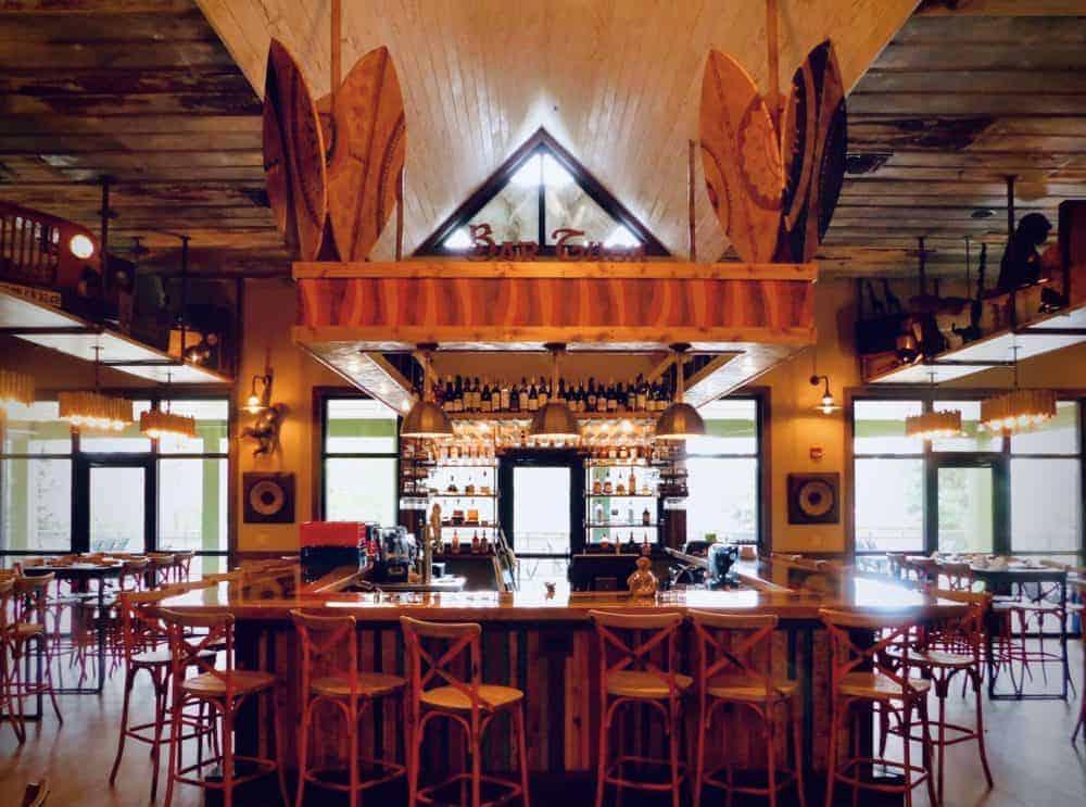 The bar at the safari club at the gulf coast zoo.