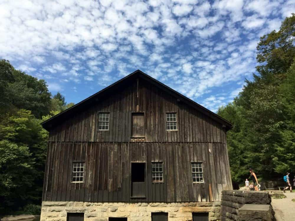 grist mill at mcconnells mill state park