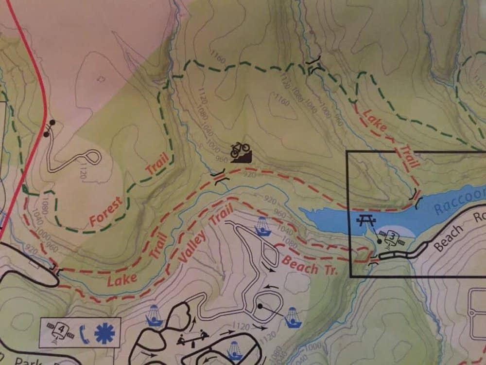 Forest Trail and Lake Trail Loop at Raccoon Creek State Park