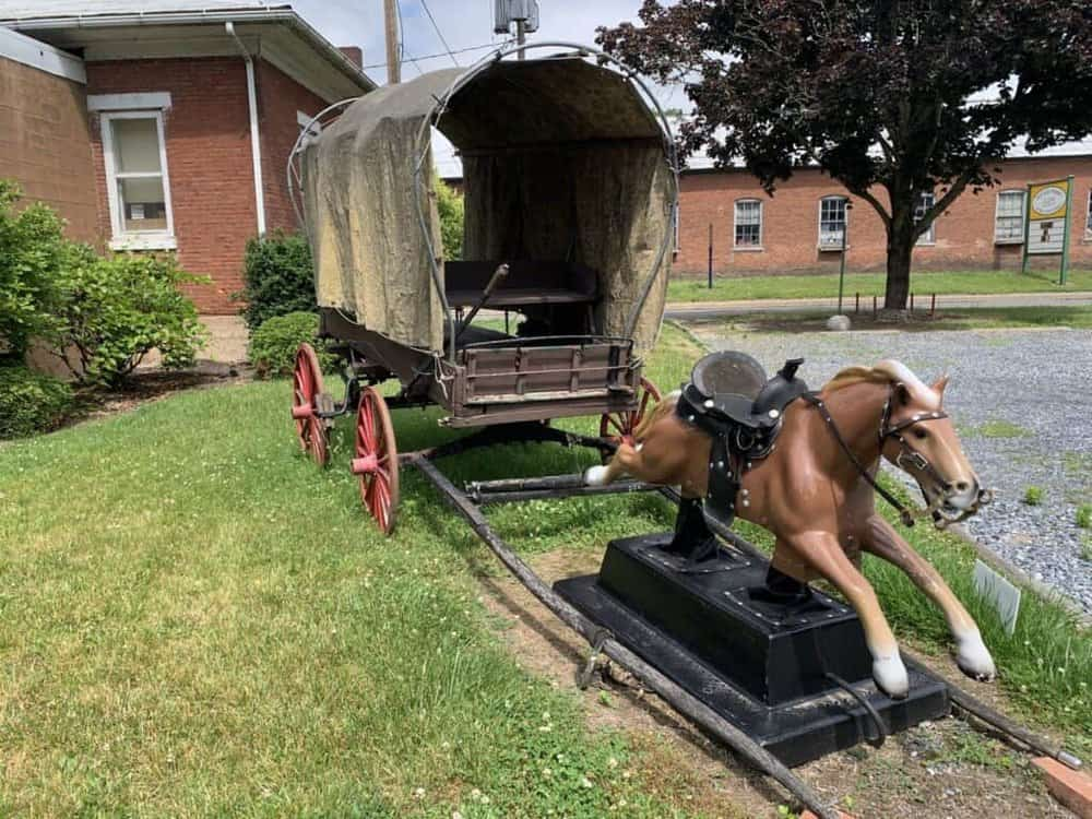old sled works pony express