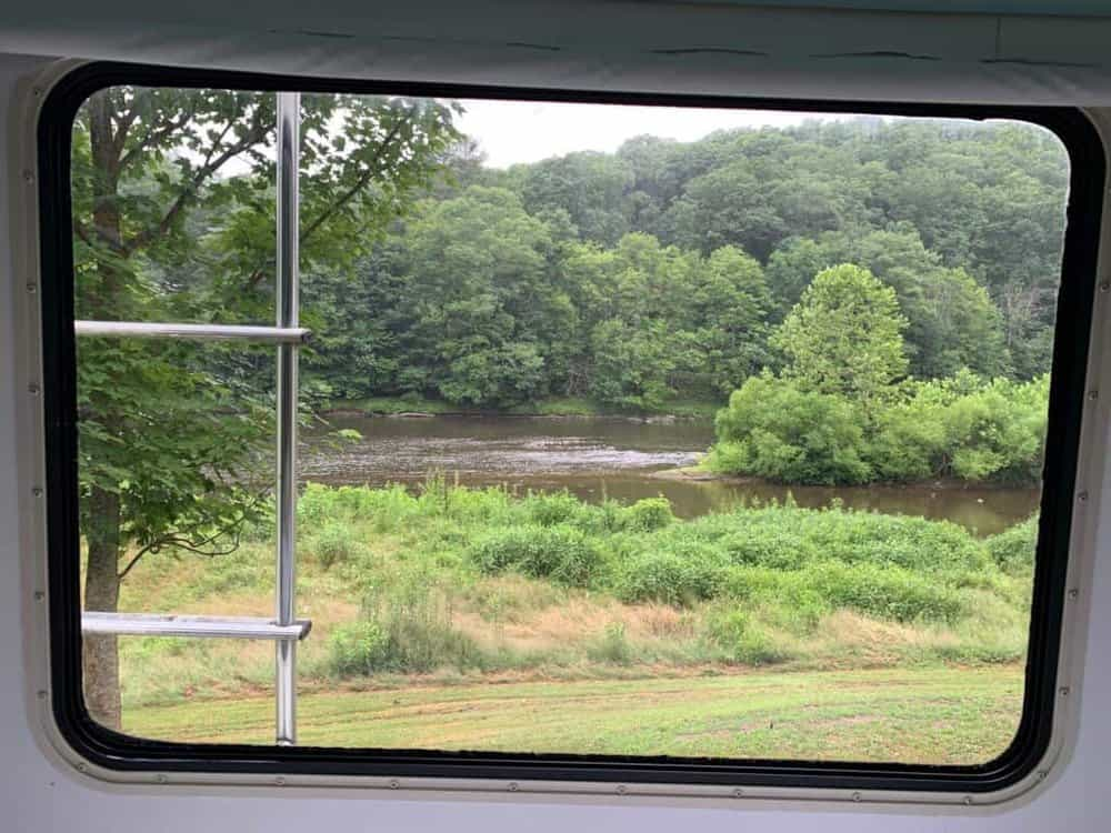 clear creek campground site view