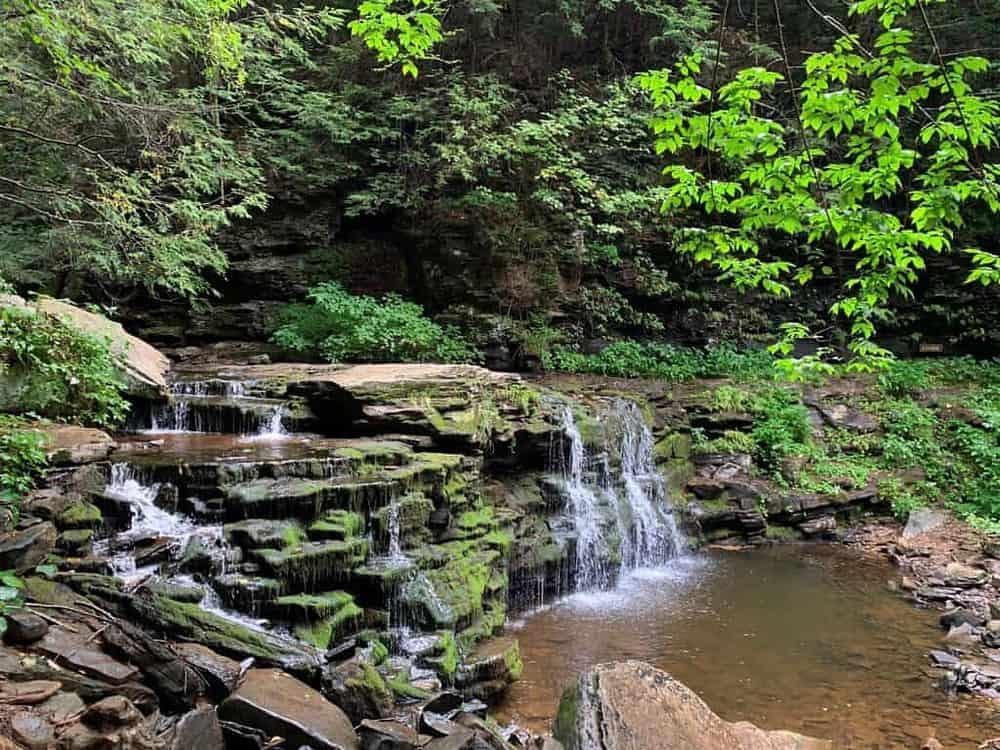 ricketts glen state park waterfall 1