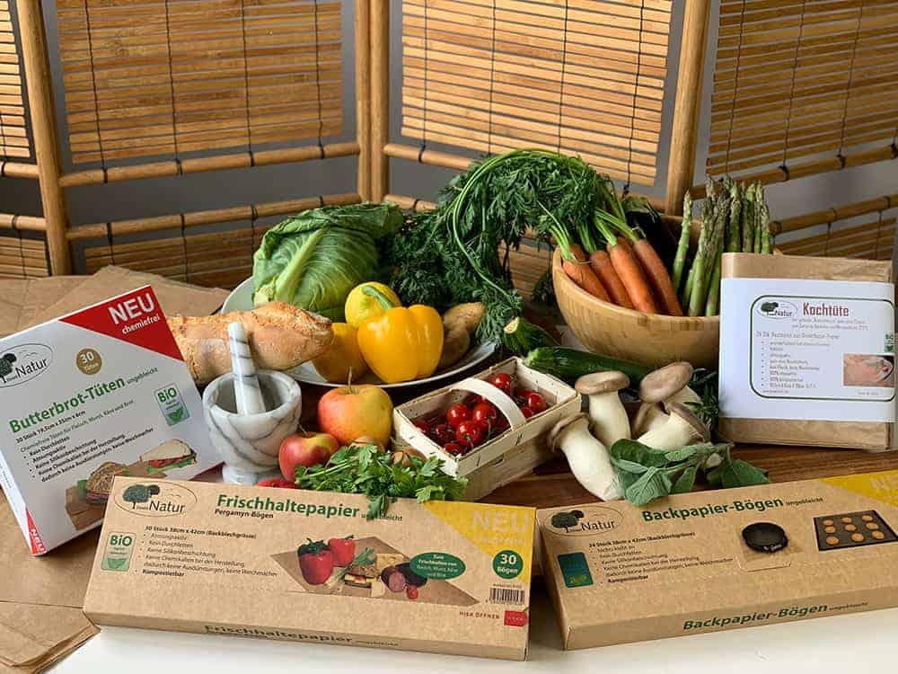 Haushaltspapiere zum Kochen, Backen und Aufbewahren