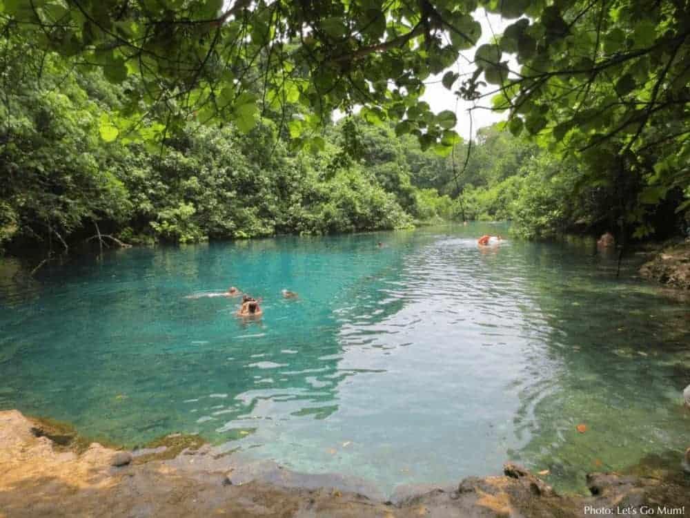 The blue lagoon fresh water pool on vanuatu