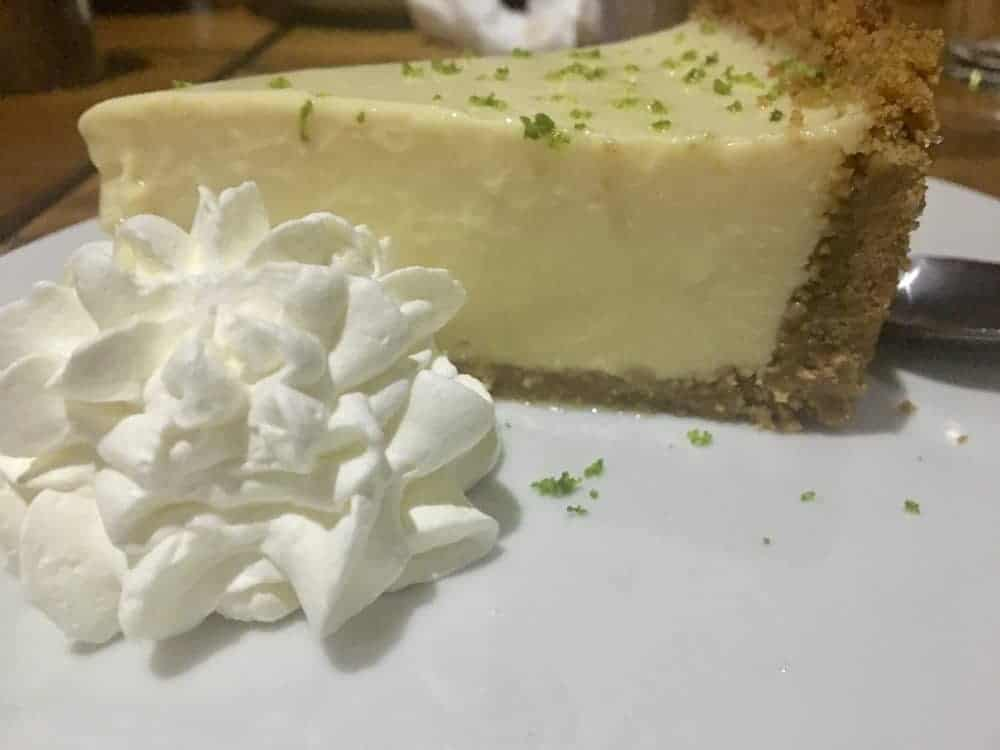 Keylime pie from gts on the bay