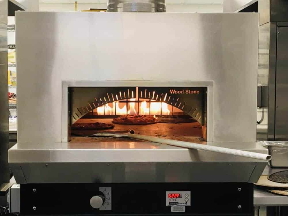 A brick oven for cooking pizza at the gulf coast zoo safari club
