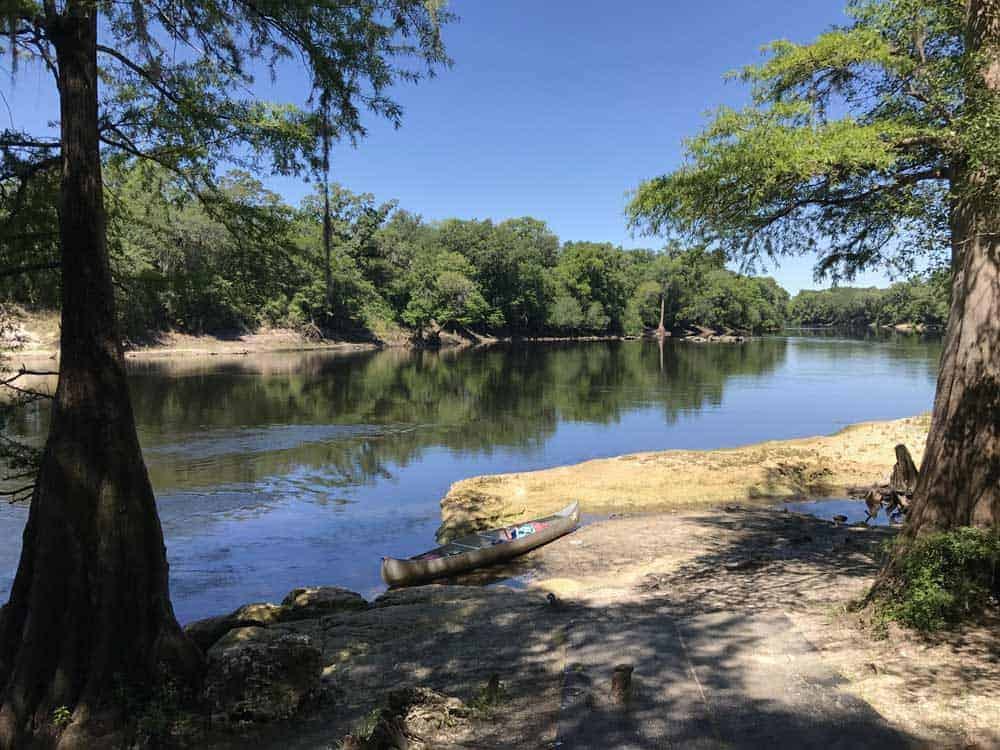 This section of the Suwannee near Lafayette Blue Springs State Park was especially quiet and picturesque. Even on the Friday before Memorial Day weekend, we had the river to ourselves.