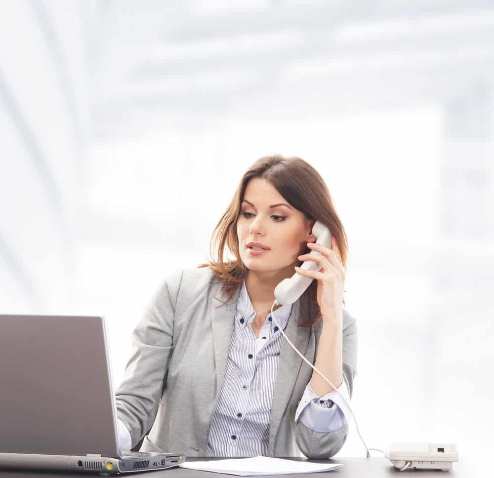 Lady Calling Insurance Company