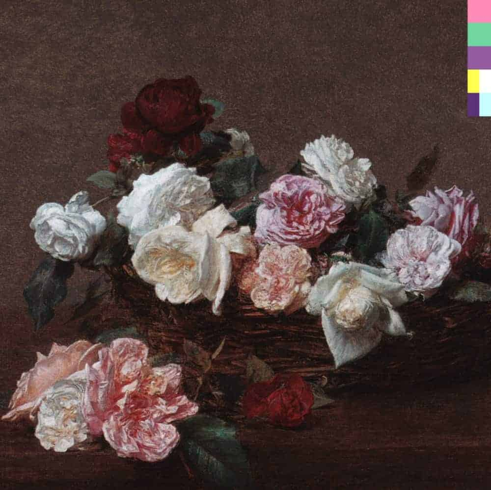 Power, Corruption, and Lies album cover with Henri Fantin-Latour's A Basket of Roses, 1983