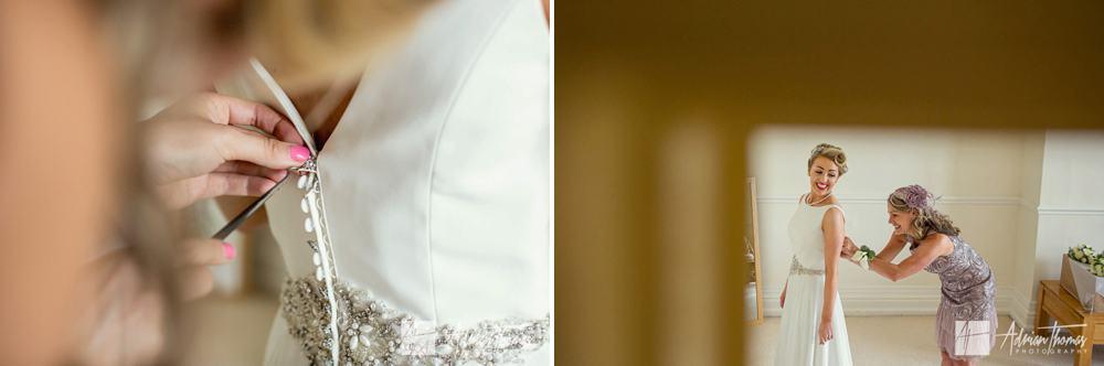 Brides dress before wedding,