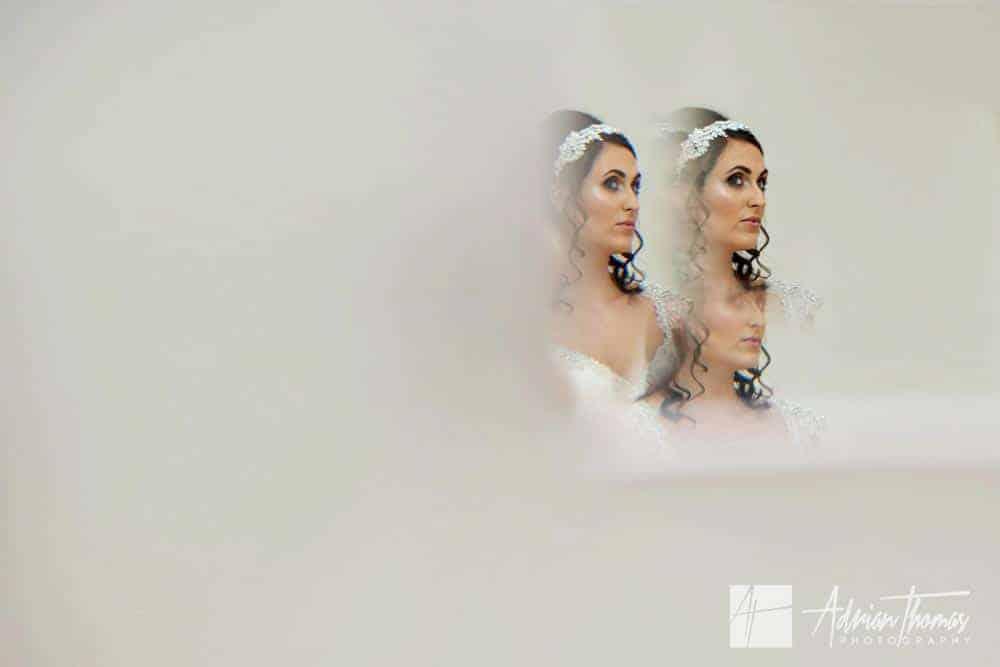 Bride portrait before her Miskin Manor Hotel wedding
