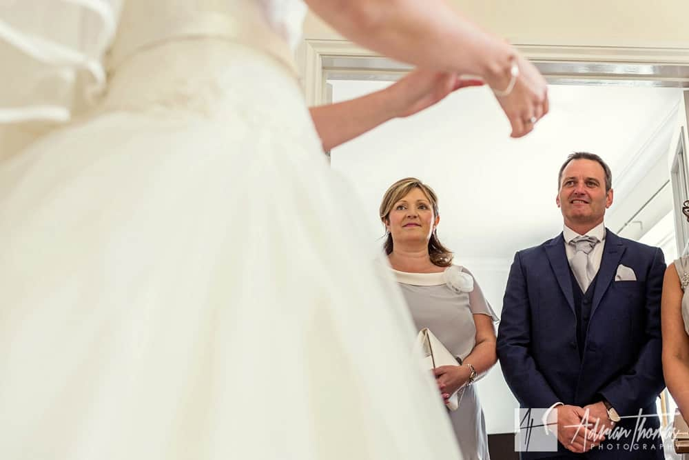 Brides parents see bride for first time