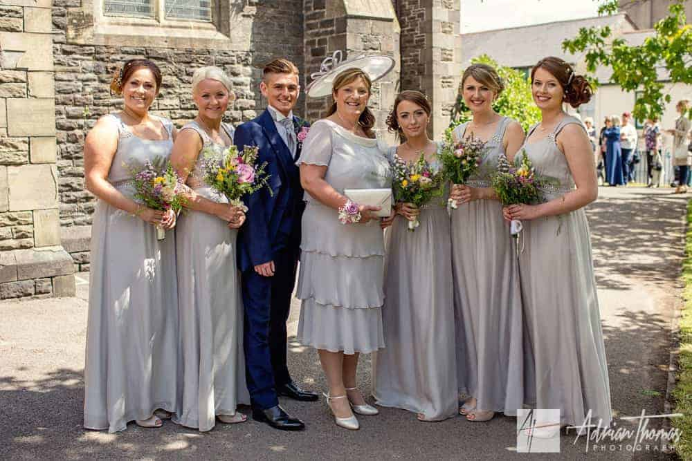 Image of bridesmaids and mother of the bride