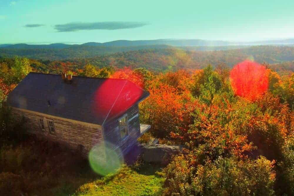 The fall view from Hogback Mountain in Wilmington, Vermont.