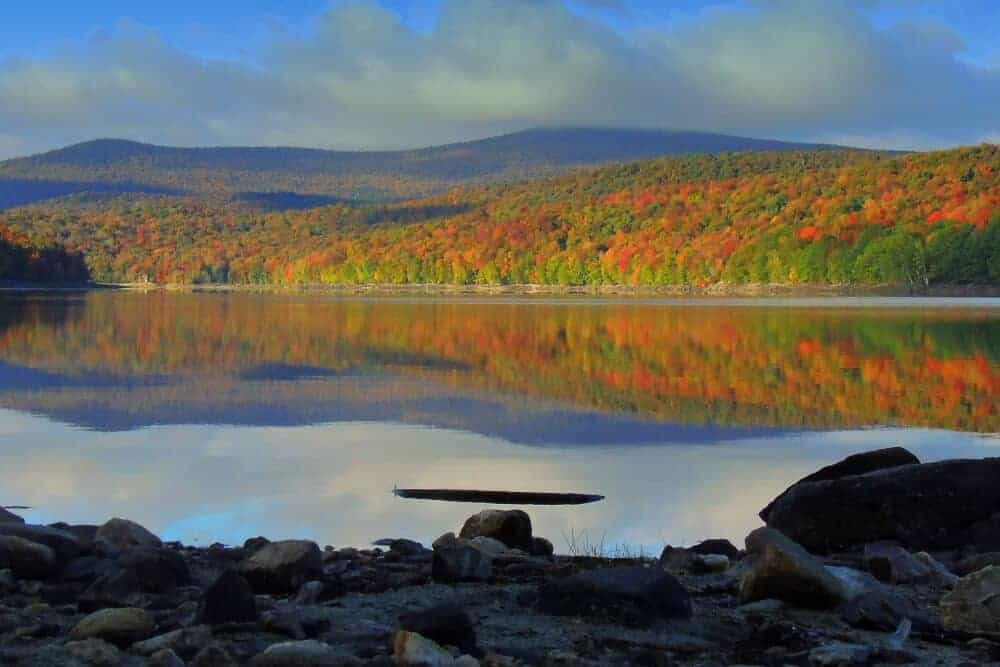 Wilmington, Vermont in the fall.