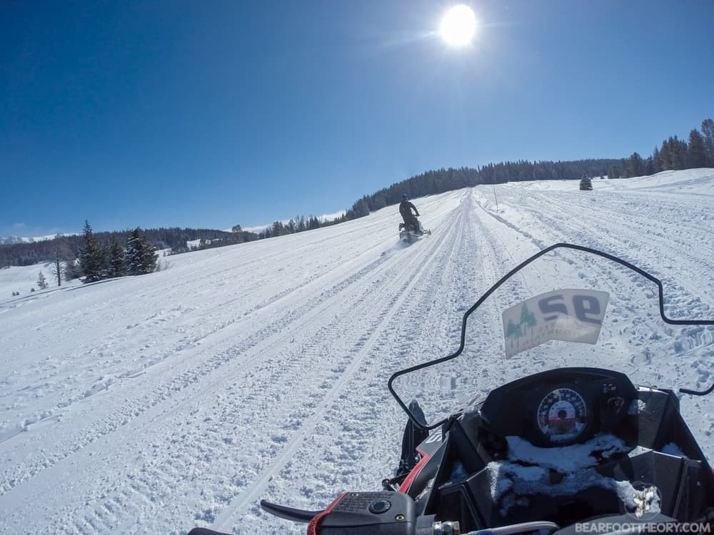 Togwotee Mountain Lodge along Wyoming's continental divide offers some of country's best #snowmobiling
