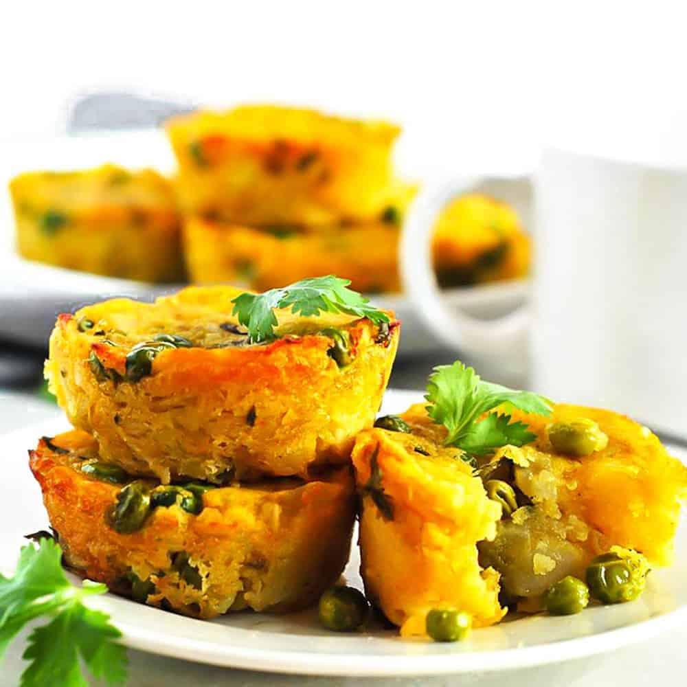 Potato and Peas Samosa Muffins