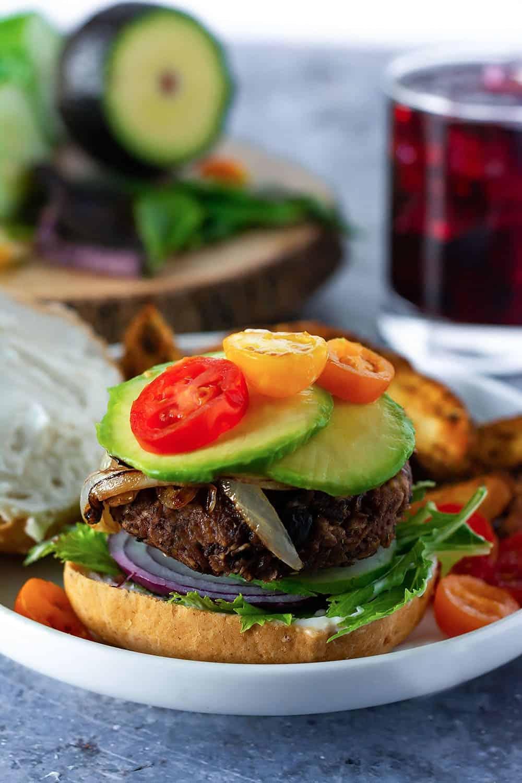 Vegan Oatmeal Black Bean Burgers