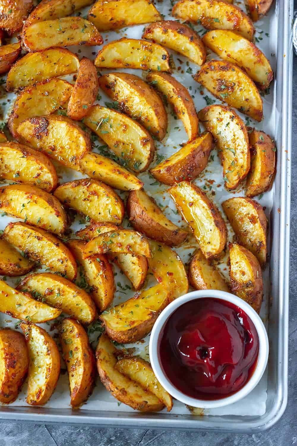 Cajun Oven Baked Potato Wedges