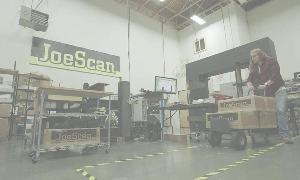 JoeScan warehouse shipping scanners