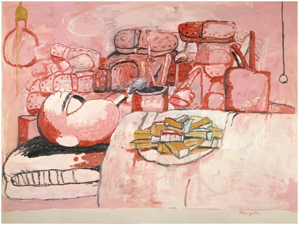 Philip Guston. Painting, Smoking, Eating, 1973. Stedelijk Museum, Amsterdam.