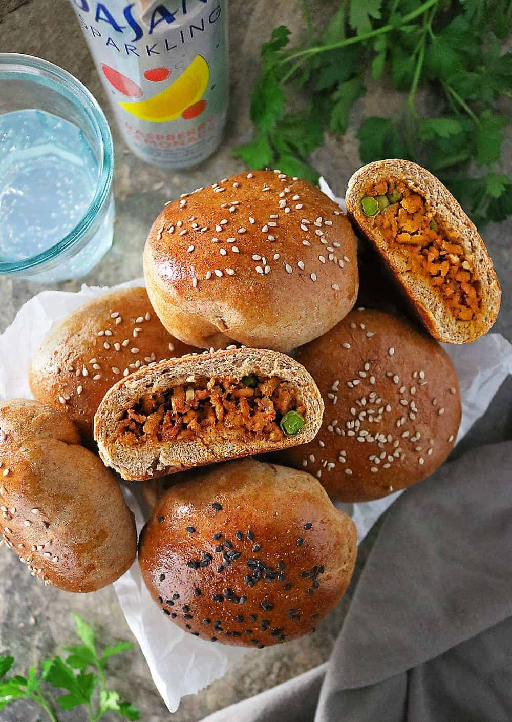 Easy Delicious Spiced Chicken Stuffed Buns Image