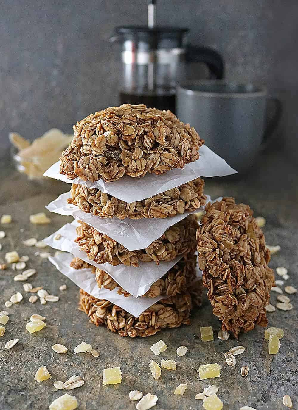 Ginger Granola Breakfast Cookies full of ginger and warm spices. Breakfast on the go never looked so good.