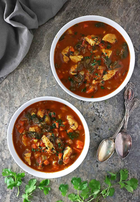 Easy Chunky Turkey Spinach Soup Photo