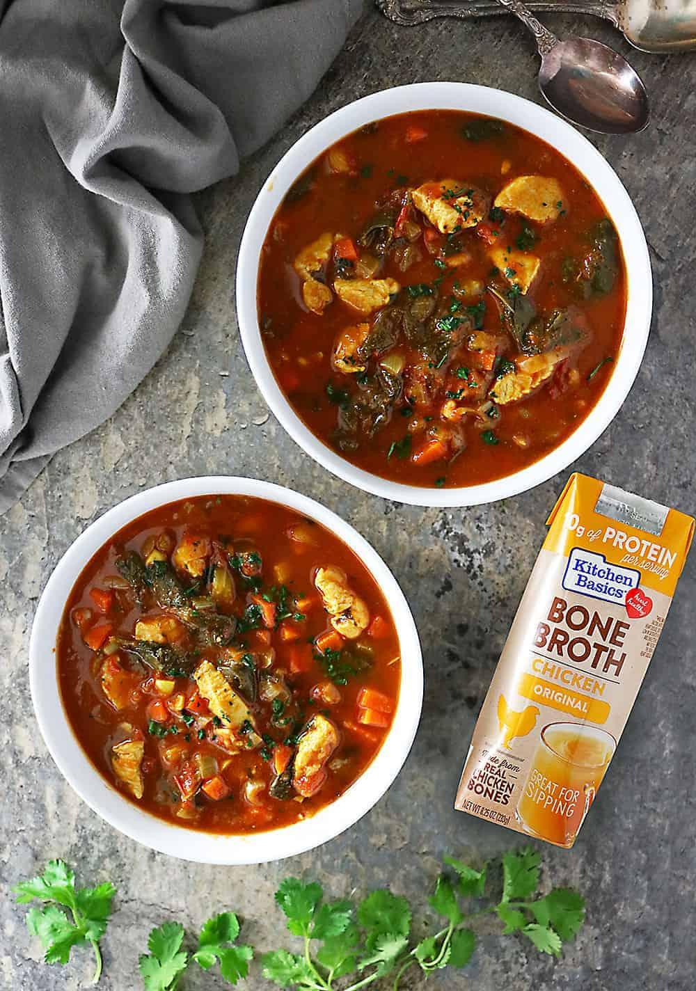 Kitchen Basics Bone Broth In Easy Turkey Spinach Soup Photo