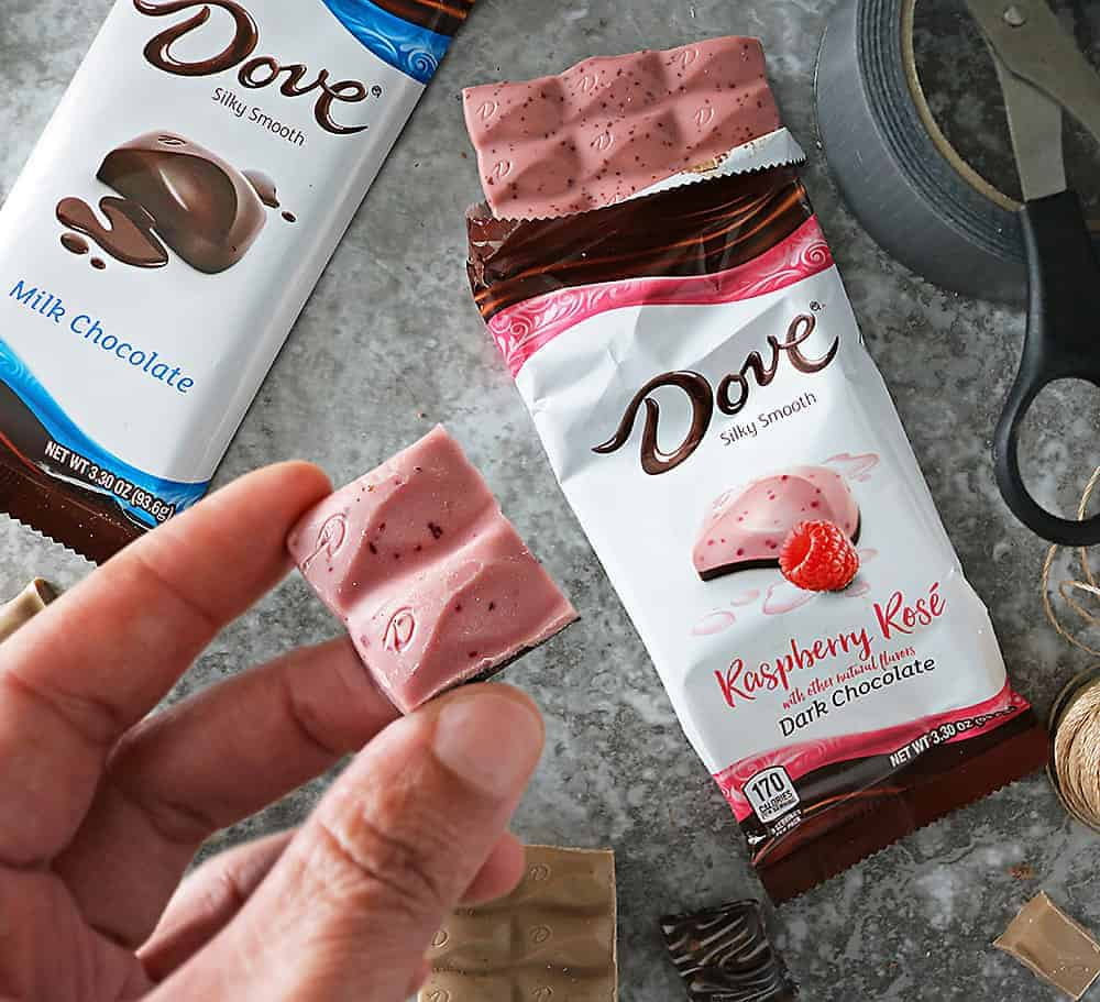 Bold NEW DOVE Chocolate Bars and choosing pleasure.